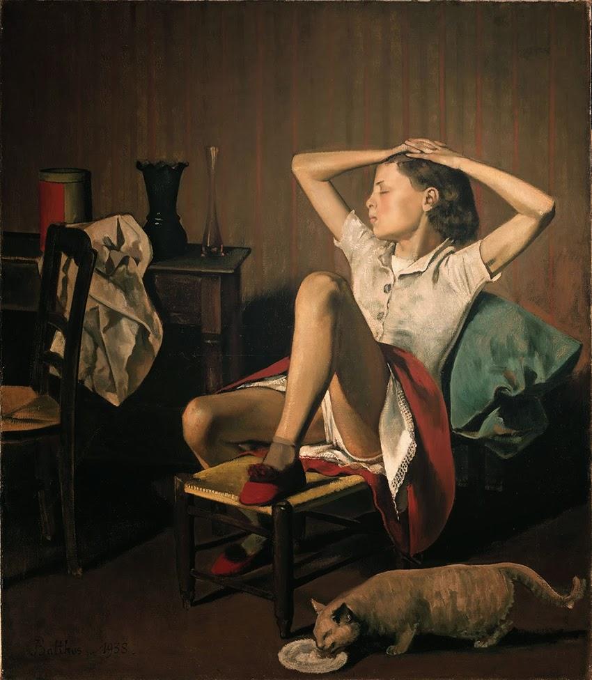 Tereza Sonhando - Balthus e sua fixação por garotas e gatos ~ Pintor francês