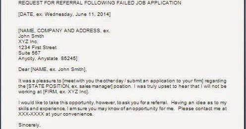 Response Letter Email To Failed Job Application