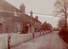Postcard of Roestock in 1915 showing Invicta Cottages and the Plough pub beyond.  Image from Peter Miller's collection