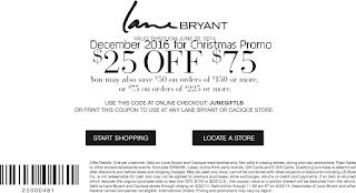 Lane Bryant coupons december 2016