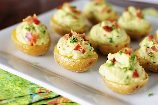 Bacon Guacamole Potato Skins Image