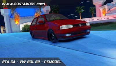 VW GOL G2 - REMODELADO Japa 3D para GTA San Andreas, GTA SA com Xenon