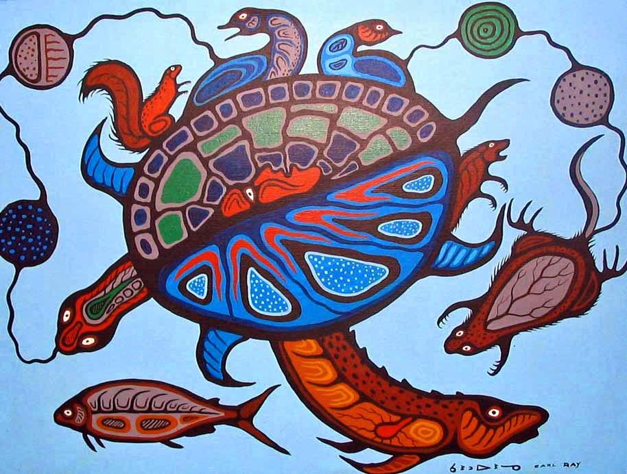 Oji-Cree Woodland artist Carl Ray