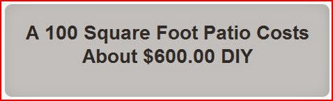 A 100 Square Foot Patio Costs About $600.00 DIY graybox