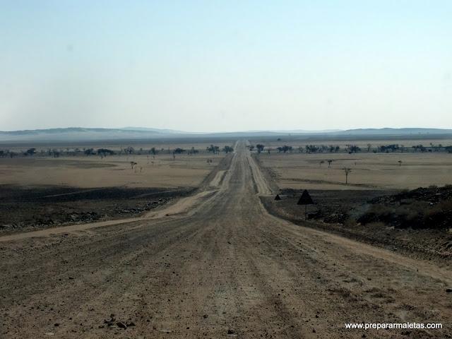 Carretera de Namibia Sesriem Walvis Bay