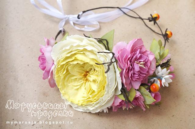 веночки из цветов на голову
