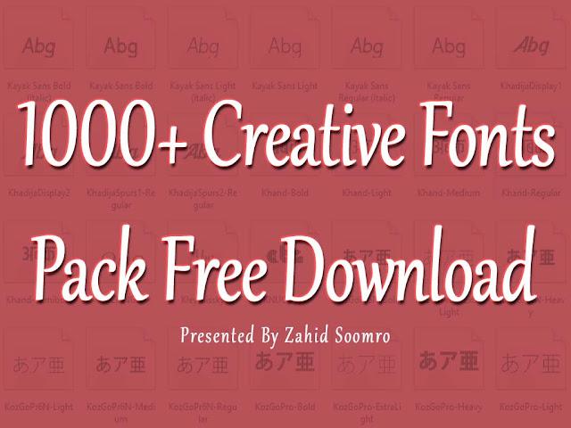 1000+ Creative Fonts