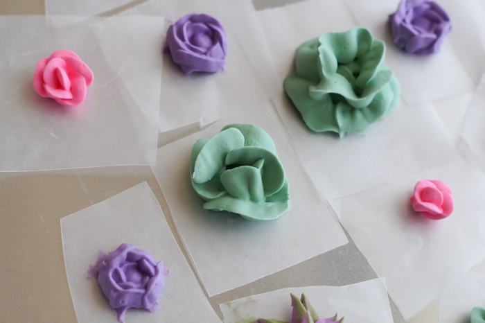 how to make with royal icing succulents and roses