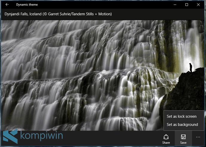 Mau Gambar Desktop & Lock Screen Jadi Lebih Keren? Gunakan Dynamic Theme! 2