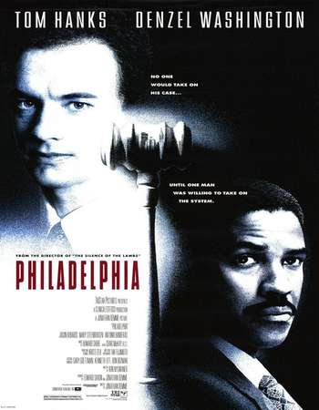 Poster Of Philadelphia 1993 English 350MB HDTV 480p ESubs Free Download Watch Online Worldfree4u