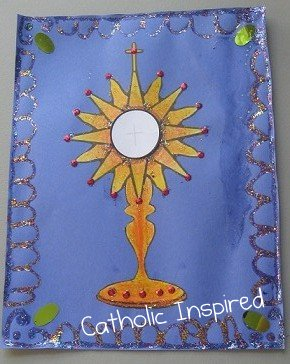 Jesus In The Eucharist Monstrance Art Project Catholic