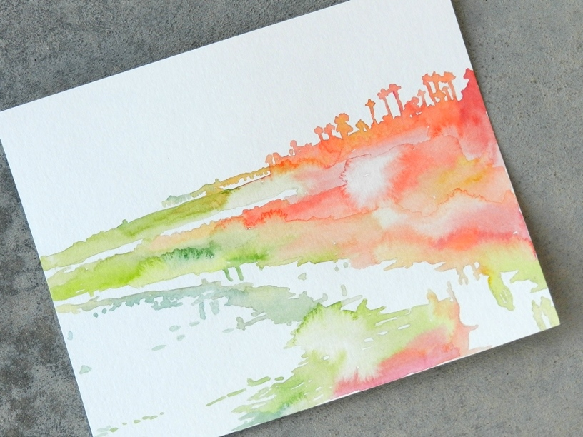 watercolor california landscape by Elise Engh: growcreative