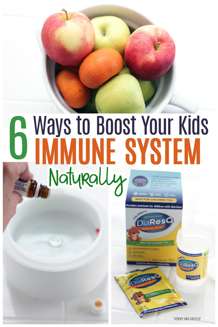Keep your family healthy with these easy ways to boost kids immune system naturally! #ad #DiaResQ #MomApproved #NoSickDays #Health #HealthyKids @disresq.com