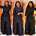 Omotola katuletea Fashion ya hili Black Dress.
