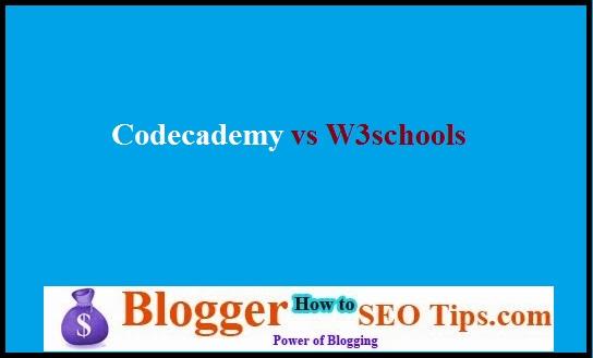 CodeAcademy Vs W3Schools