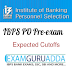 IBPS PO Preliminary exam 2016-Expected Cutoffs