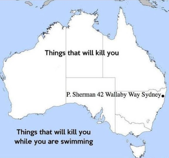 Map Of Australia Funny.Map Of Australia Silly Bunt