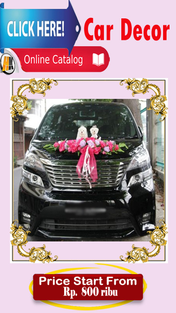 Car Wedding Decor Mobil pengantin