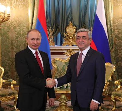 Vladimir Putin with President of Armenia Serzh Sargsyan.