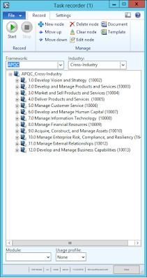 AX 2012 R3 Task recorder