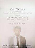Concierto de Carlos Siles en Sala Galileo - Galilei