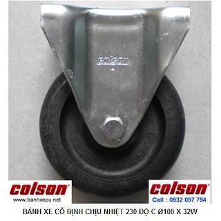 Bánh xe chịu nhiệt +230C Colson cho xe đẩy trong lò xoay | 2-4608-53HT banhxepu.net