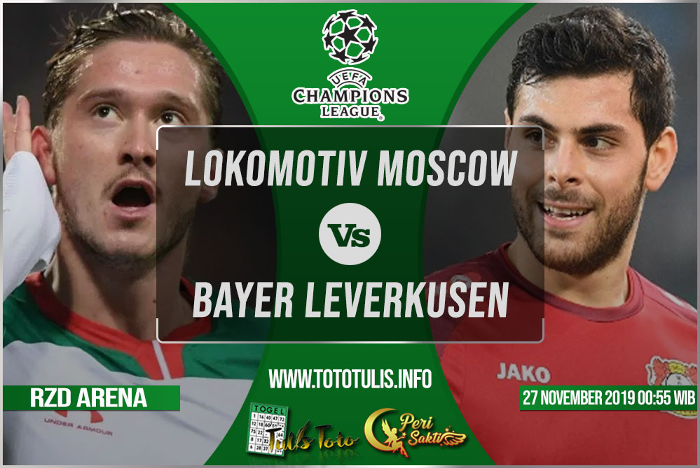 Prediksi Lokomotiv Moscow vs Bayer Leverkusen 27 November 2019