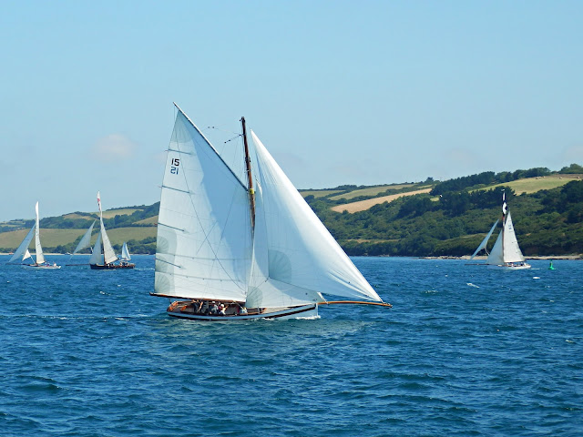 Boats on the River Fal, Cornwall