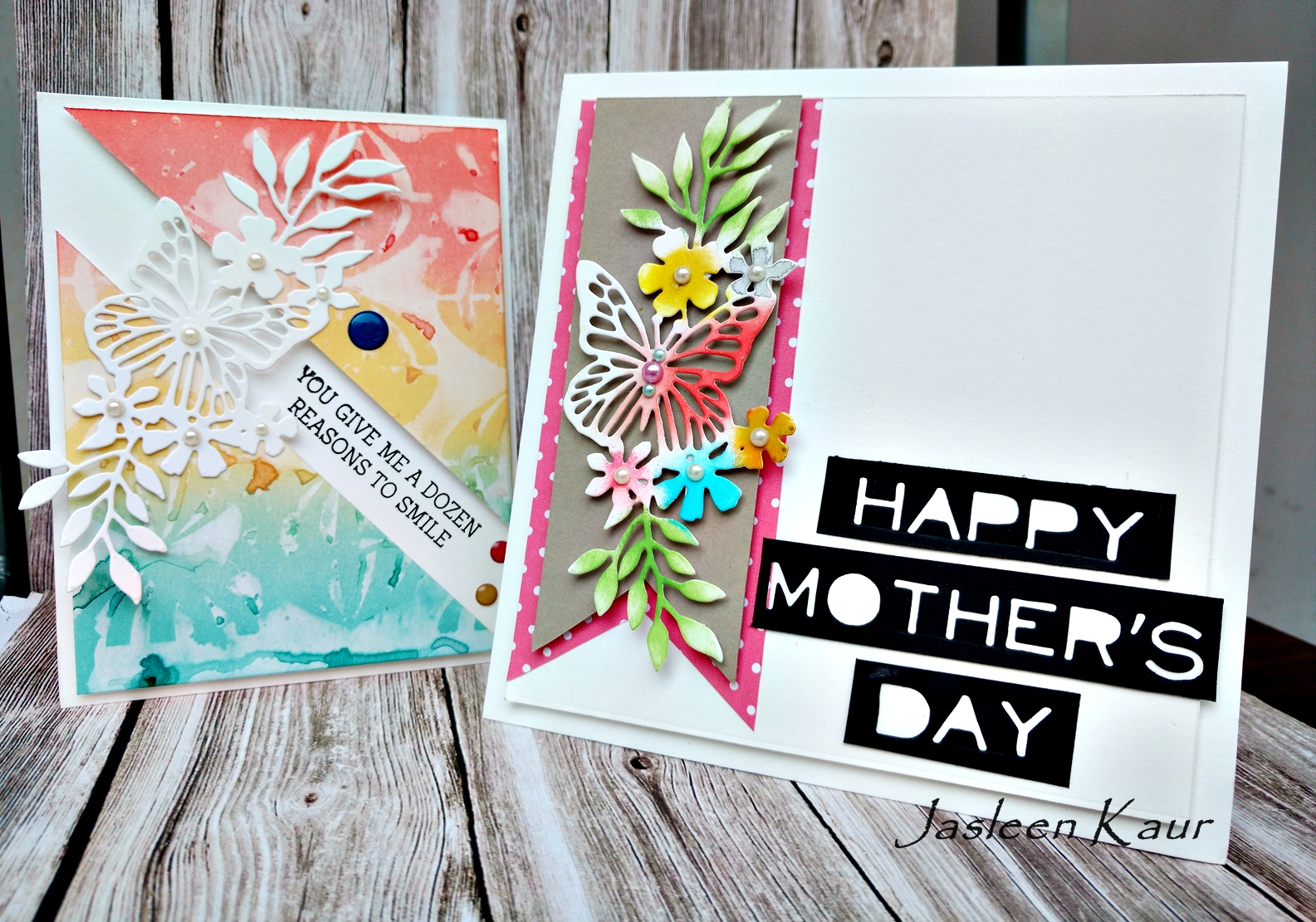 Sizzix Card Making Ideas Part - 31: We Are Observing Motheru0027s Day In India On The 14th Of This Month And I Came  Up With A Couple Of Last Minute Motheru0027s Day Card Ideas Featuring The Newly  ...