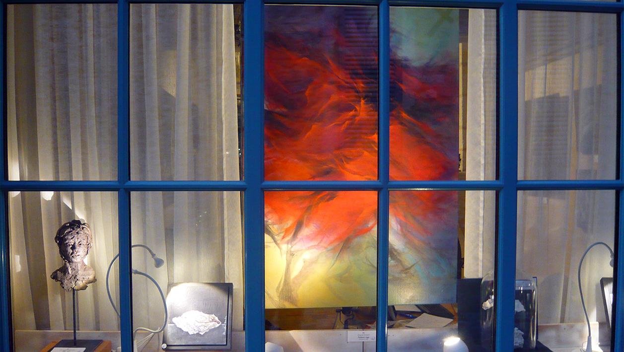 l 39 art a tous gards nouvelle vitrine et nouvel accrochage. Black Bedroom Furniture Sets. Home Design Ideas