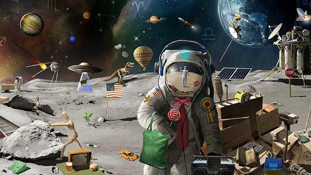 kehidupan manusia dan alien di antariksa