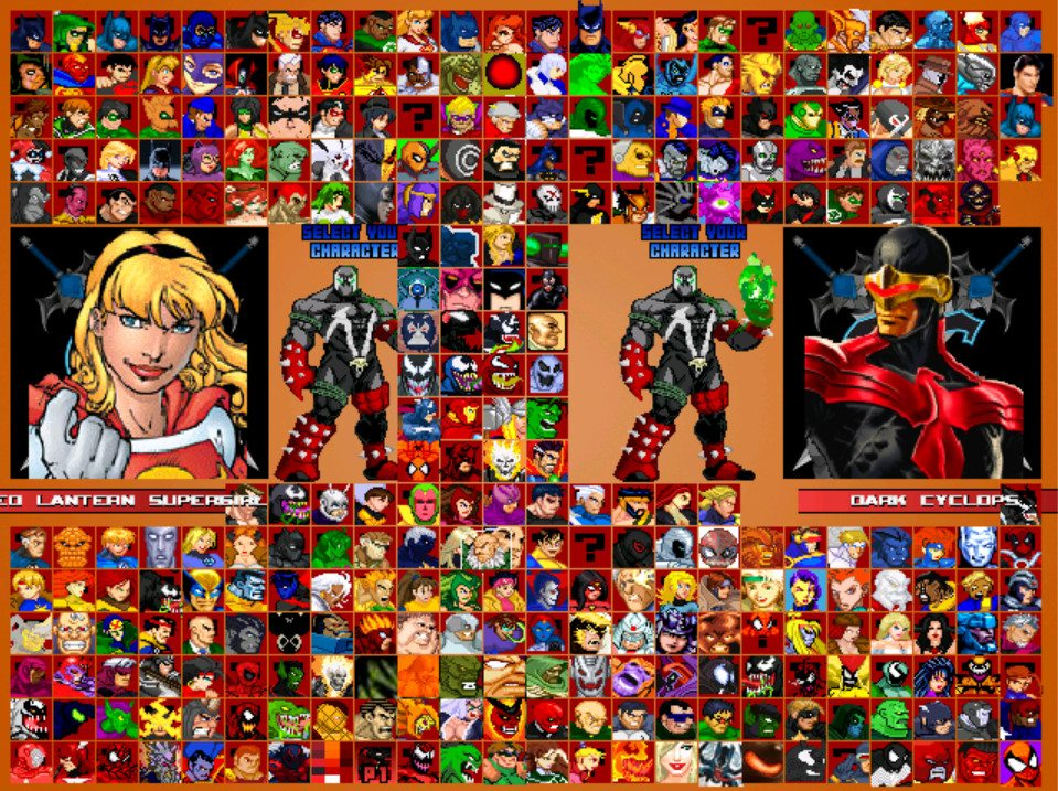 Indie Retro News: Marvel VS DC-Universe MUGEN V 2 0 - Over