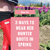 3 Ways to Wear Red Hunter Boots in Spring