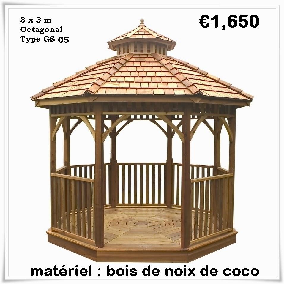 Kiosque de Jardin en Bois Pas Cher | Gazebo: Kiosque de ...