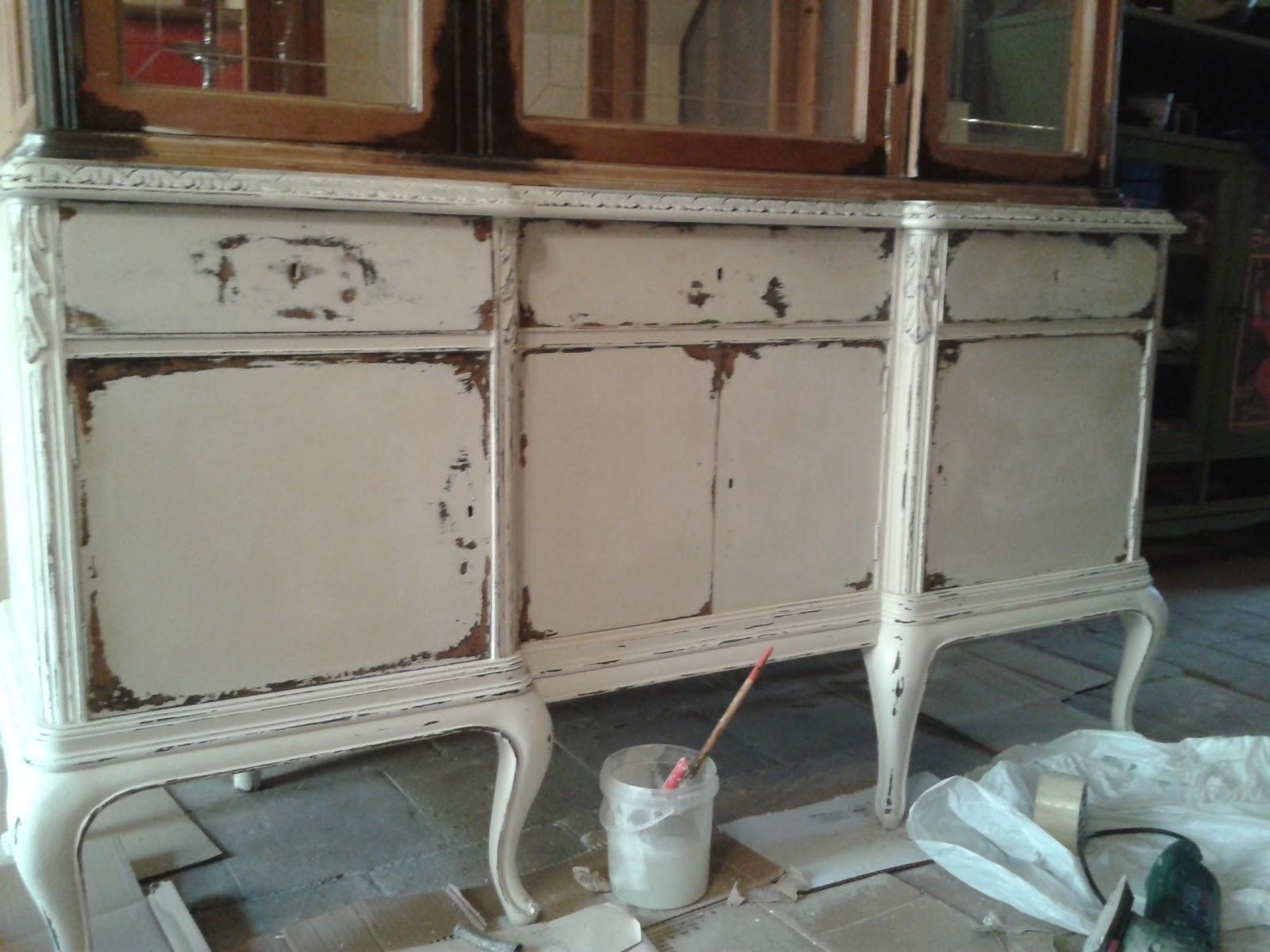 Decoupage transfer y otras t cnicas restauraci n de for Restauracion muebles vintage