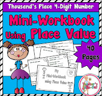 Mini Workbook Place Value using 4 digit numbers