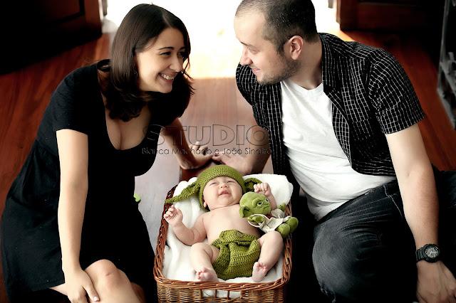 fotos newborn com familia