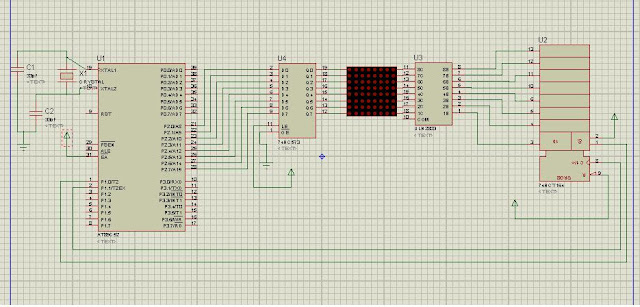 LED DOT MATRIX MOVING MESSAGE DISPLAY BOARD CIRCUIT DIAGRAM