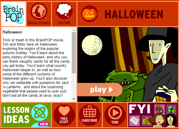 Brainpop Jr Halloween