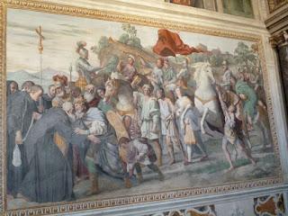 Afrescos de Grottaferrata, Abadia, Domenichino - São Nilo encontra Otão III