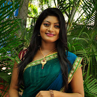 Charming hot sexy ethnic sowmya in saree at sarikothagundi lokam movie opening