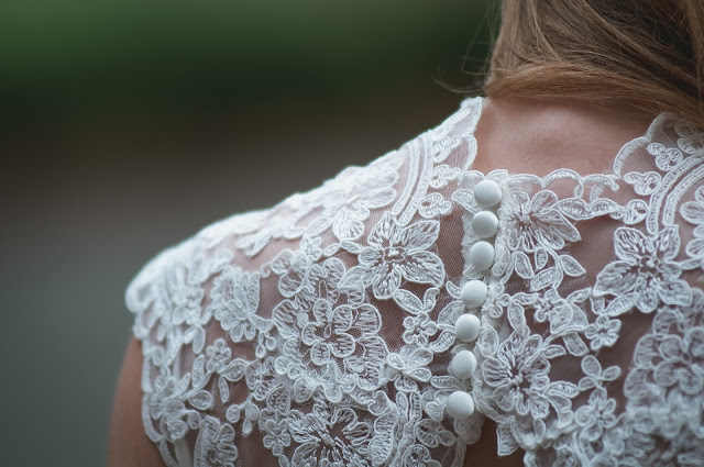 The Beautiful Lace Wedding Gown...