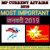 MP CURRENT AFFAIRS 2019 (JANUARY 2019 TOP 20 MCQ)