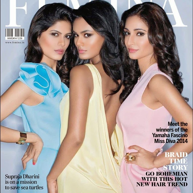 miss devia 2014 winners feature on cover of femina magazine