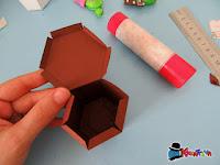 come realizzare una scatolina a forma di vaso