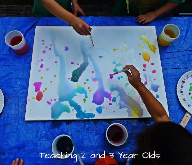 Art Painting Ideas for 3 Year Olds