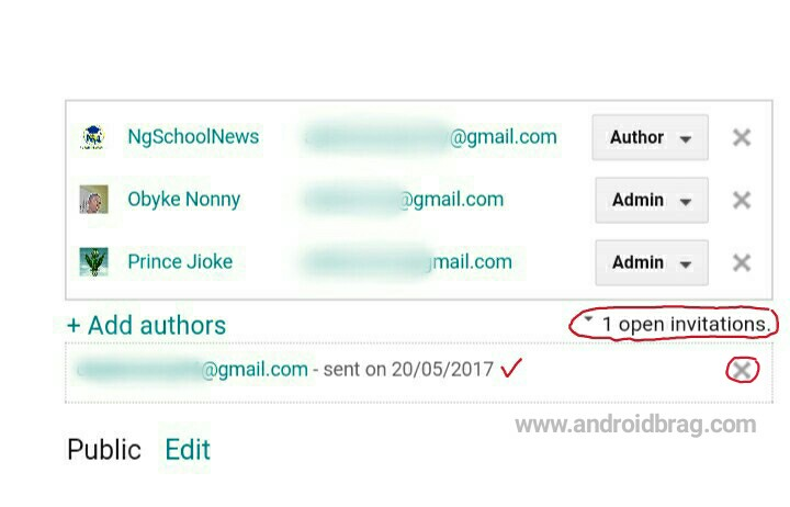 how to send an invite from blogger.com