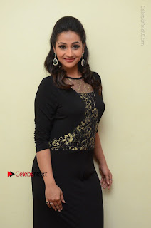 Telugu Actress Manasa Manohar Stills in Black Long Dress at Naku Nene Thopu Turumu Trailer Launch  0021.JPG
