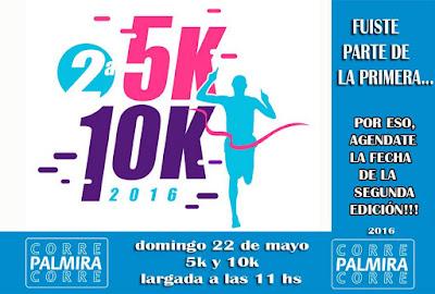 10k y 5k Corre Palmira Corre (2a.ed.; Nueva Palmira, Colonia, 22/may/2016)