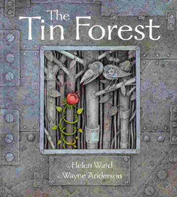 Momo celebrating time to read: The Tin Forest by Helen Ward illustrated by  Wayne Anderson
